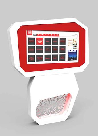 Borne tactile murale crisalys by socialbox for Borne tactile exterieur