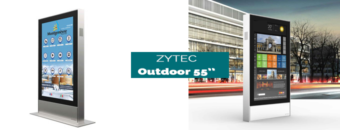 borne tactile Zytec outdoor