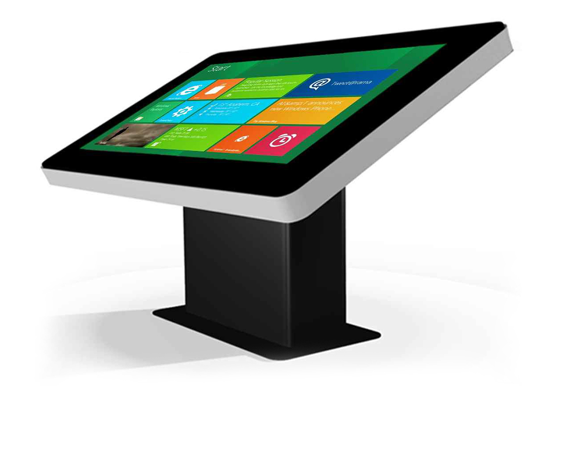 Pupitre tactile indoor zytab par my socialbox - Table basse escamotable stand up ...